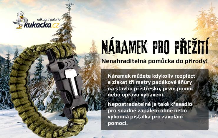 Náramek pro přežití - Nenahraditelná pomůcka do přírody!