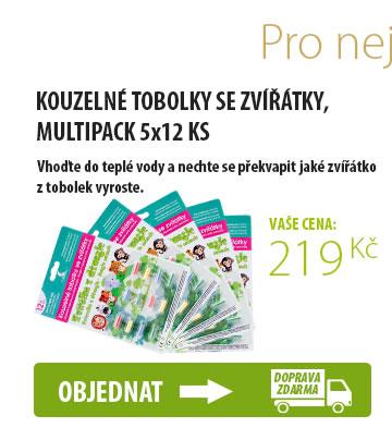 KOUZELNÉ TOBOLKY SE ZVÍŘÁTKY, MULTIPACK 5x12 KS