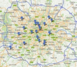 Google Map of London SY Meetings