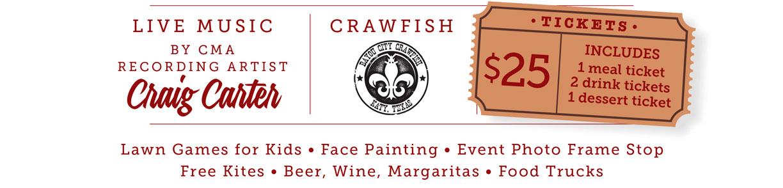 Texas Legends Crawfish Boil