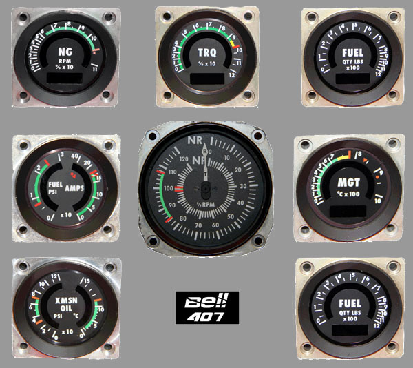 Bell 407 Gages
