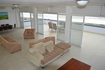 Beach House Living and Dining Area with Ocean View