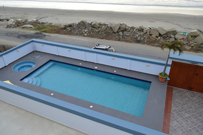Beachfront pool access