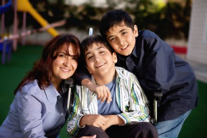 Mom with two sons, one with a disability.