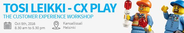 Tosi Leikki - CX Play Customer Experience Workshop I Lue lisää ja rekisteröidy