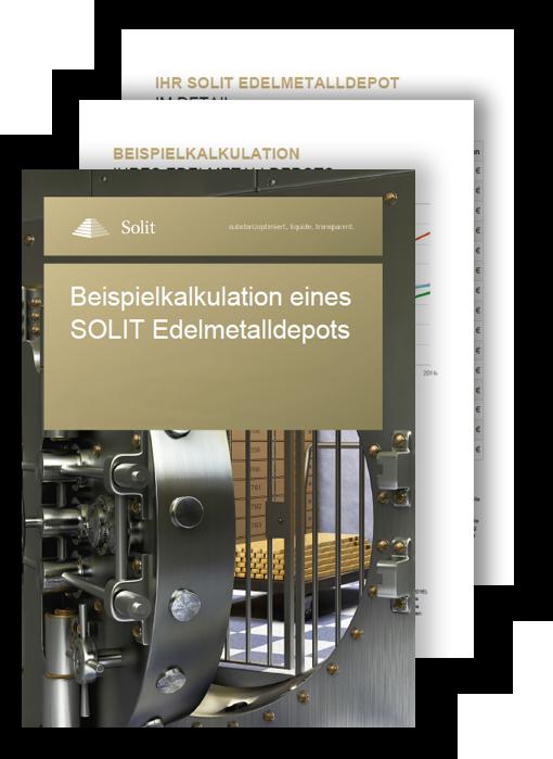 Screenshot SOLIT Edelmetalldepotrechner - PDF Zusammenfassung