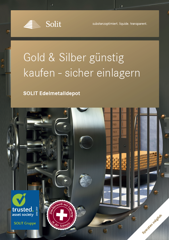 SOLIT Edelmetalldepot - Plakat