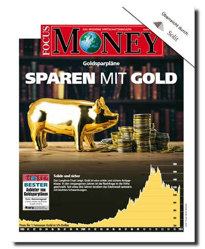 Focus Money Sonderdruck - SOLIT ist bester Goldsparplananbieter