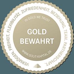 SOLIT Gold bewahrt Siegel