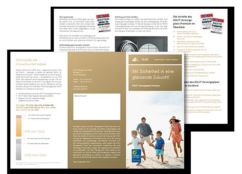 Flyer zum SOLIT Vorsorgeplan Premium