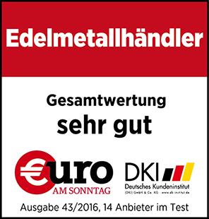 Euro am Sonntag - Siegel GoldSilberShop.de