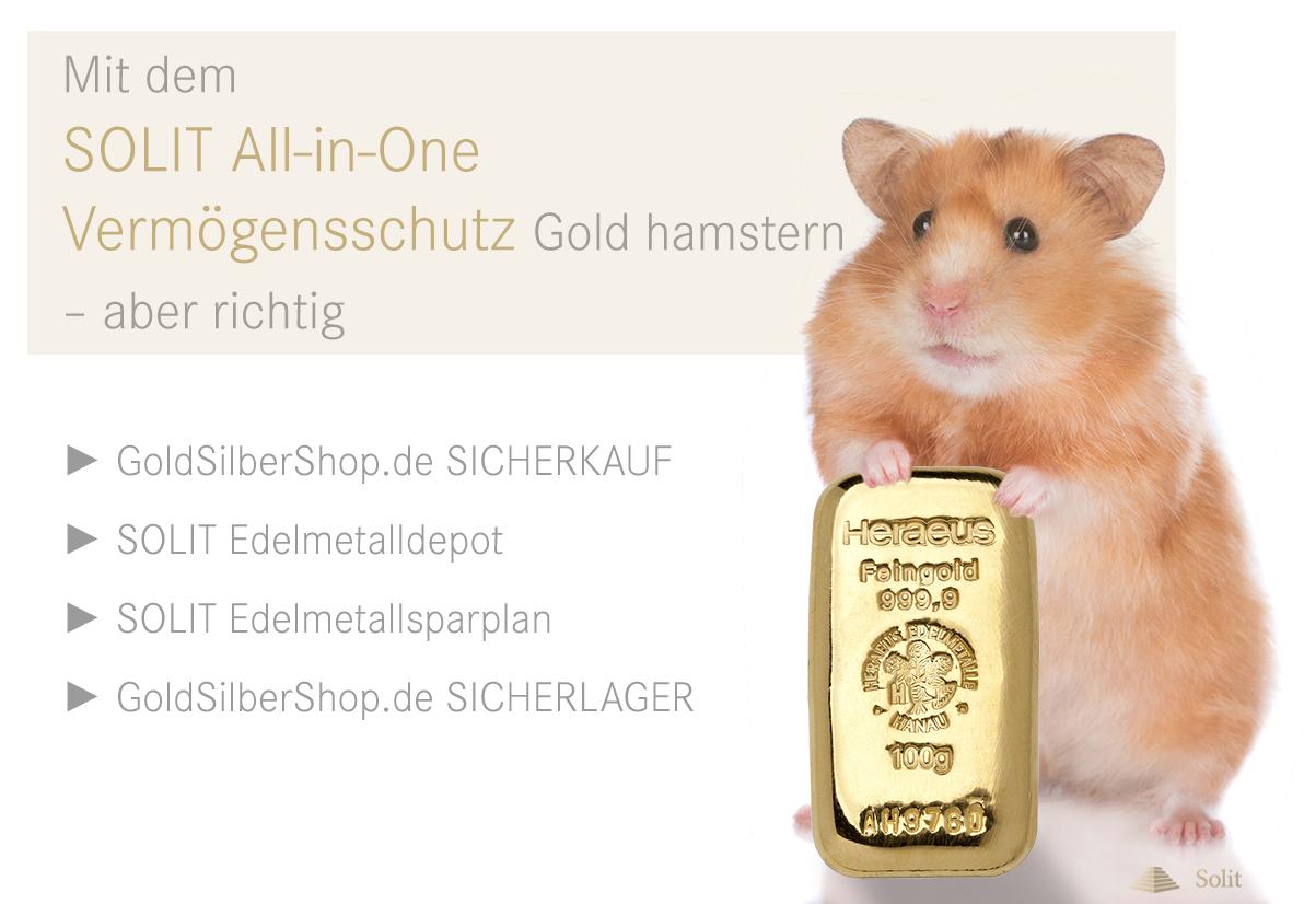 Gold hamstern - Mit dem SOLIT All-in-One-Vermögensschutz