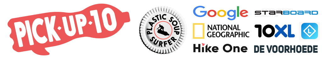 Pick up 10 Logo plastic soup surfer and partners
