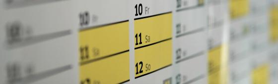 Foto. Kalenderoversigt.