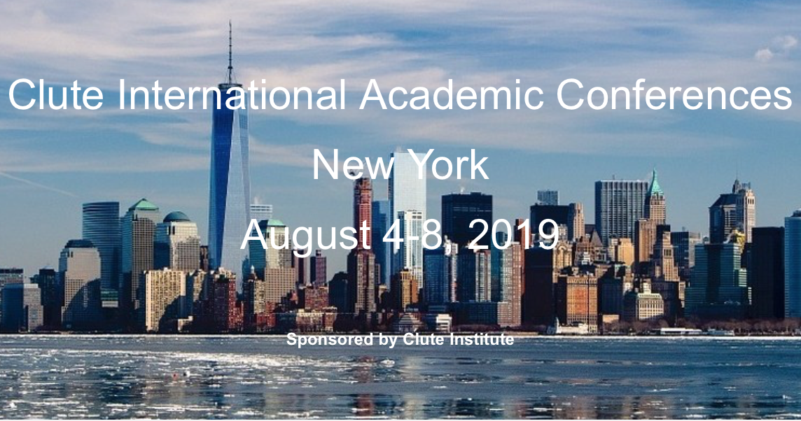 Clute International Academic Conferences New York August 4-8, 2019 Picture