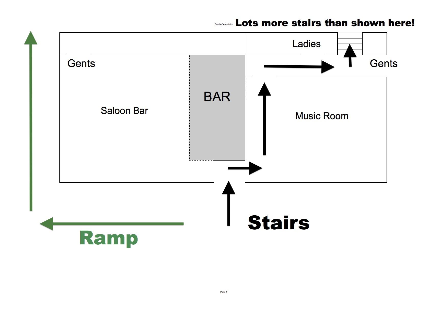 Floorplan downstairs Cumberland Arms Byker