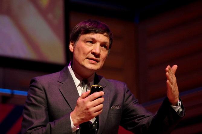 Ivan Poupyrev presenting on stage