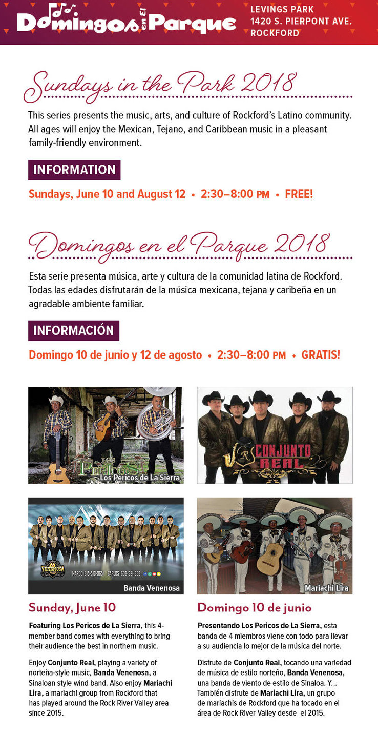 Domingos en el Parque ~ Sundays in the Park @ Levings Lake Park | Rockford | Illinois | United States