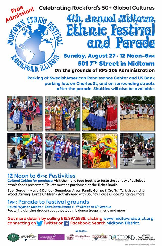 4th ANNUAL MIDTOWN ETHNIC FESTIVAL and PARADE @ On the grounds of RPS 205 Building | Rockford | Illinois | United States