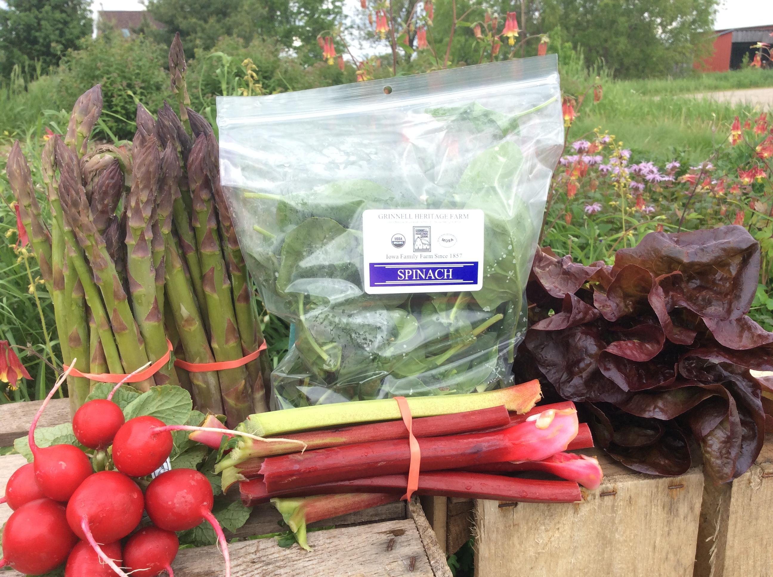 Grinnell Heritage Farm - Spring CSA - Week 4
