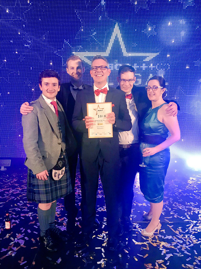 Simon Allison crowned Lawyer of the Year at Scottish Legal Awards 2018
