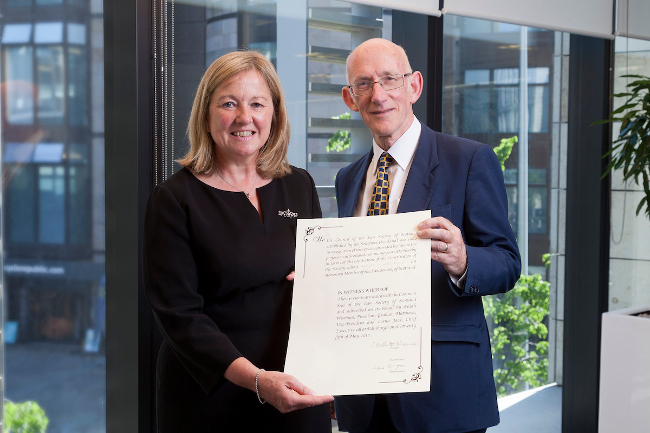 Adrian Ward honoured and vote for practising certificate freeze at Law Society of Scotland AGM