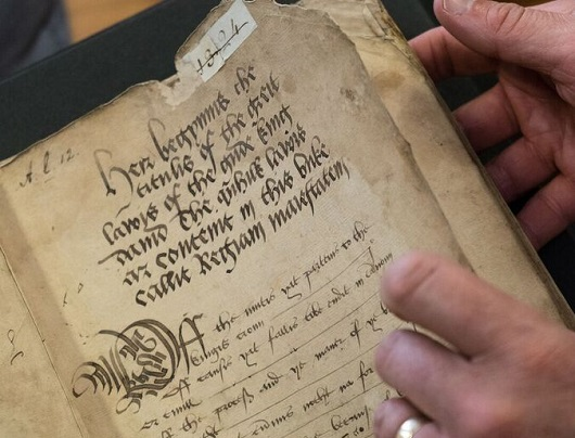 Rare 16th century legal manuscript 'comes home' to St Andrews