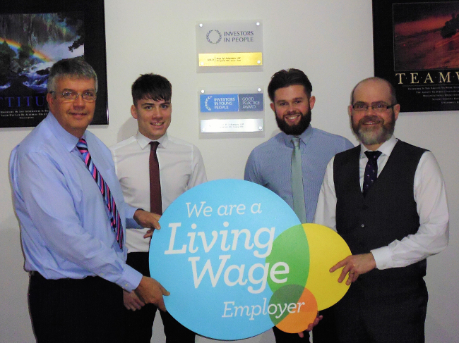 Alex M Adamson LLP accredited as Living Wage employer