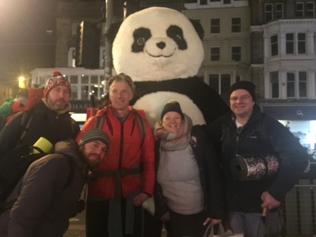 Terra Firma Chambers brave the cold at Sleep in the Park