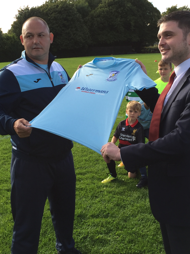 Community football academy scores major sponsorship deal with Watermans