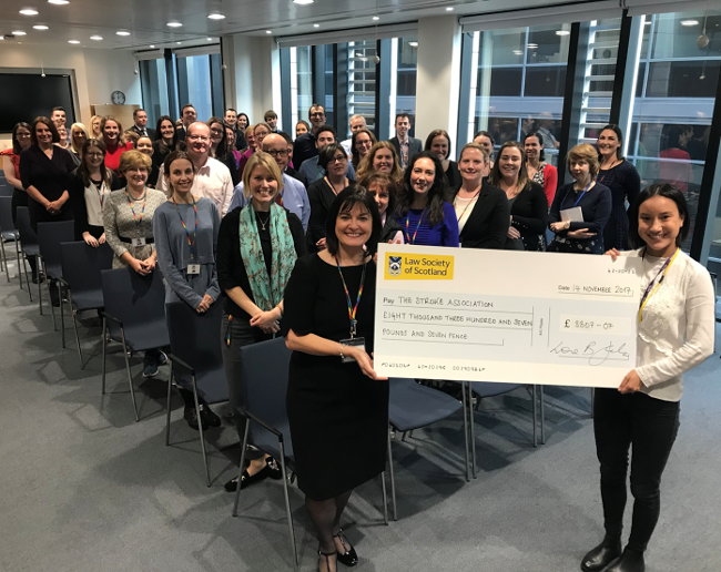 Law Society staff raise over £8,000 for the Stroke Association