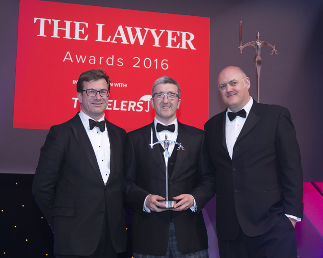 Brodies named Regional Law Firm of the Year at The Lawyer Awards