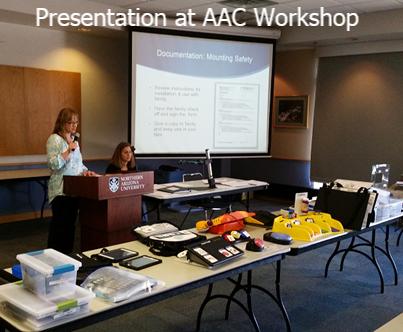 AzTAP staff presenting at AAC Workshop