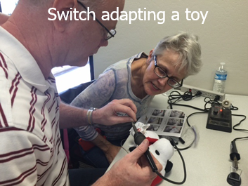 Participants switch adapting plush toy