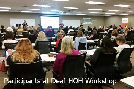 Participants at Deaf-HOH Workshop