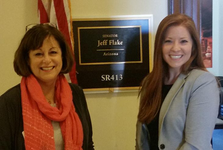 Jill Pleasant and staffer from Senator Jeff Flake's office