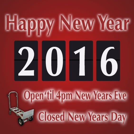Wyse Industrial Carts New Years Schedule
