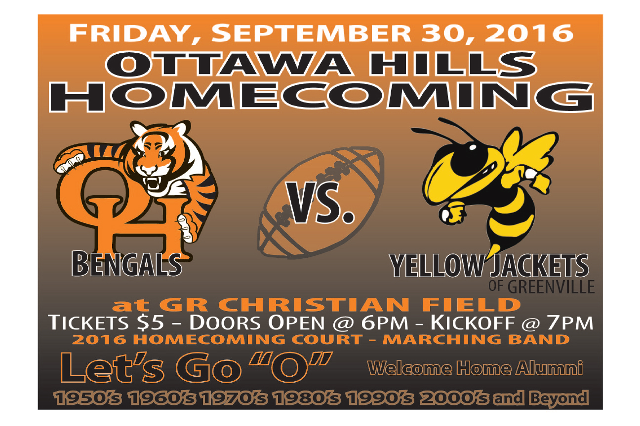 Flier for OHHS homecoming game