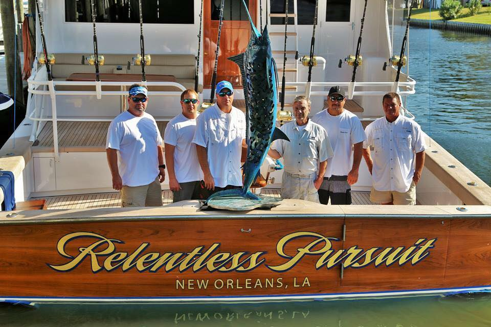 Relentless Pursuit with the coveted Frank Ledbetter Blue Marlin Trophy.