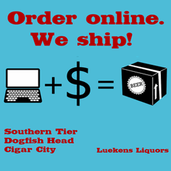 Luekens Liquors - Order online. We ship! Southern Tier, Dogfish Head, Cigar City, and More.