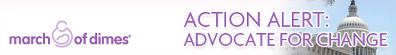 March of Dimes Action Alert