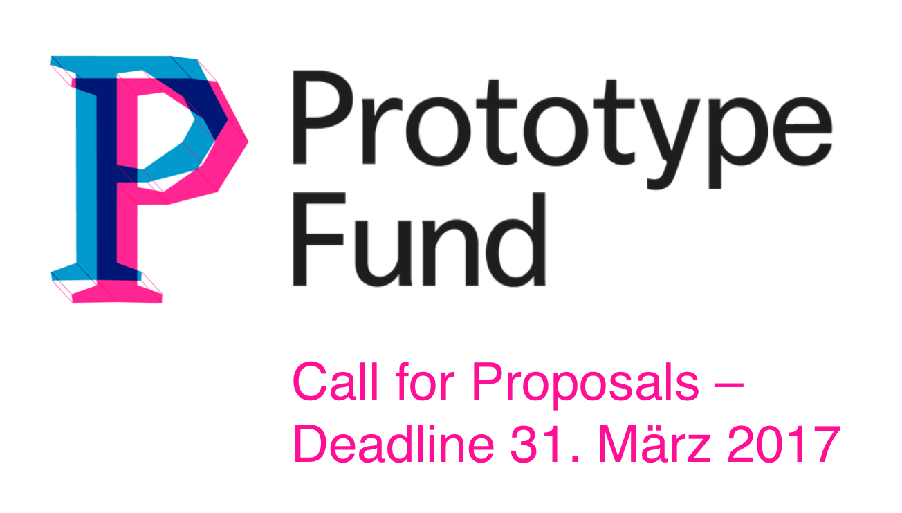 Prototype Fund: Call for Papers