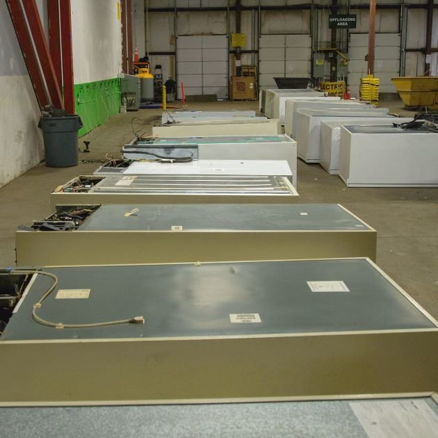 Fridges Being Recycled