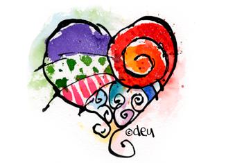 Heart Illustration copyright D.E.Uhlig