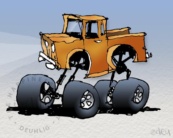 Truck Illustration copyright D.E.Uhlig