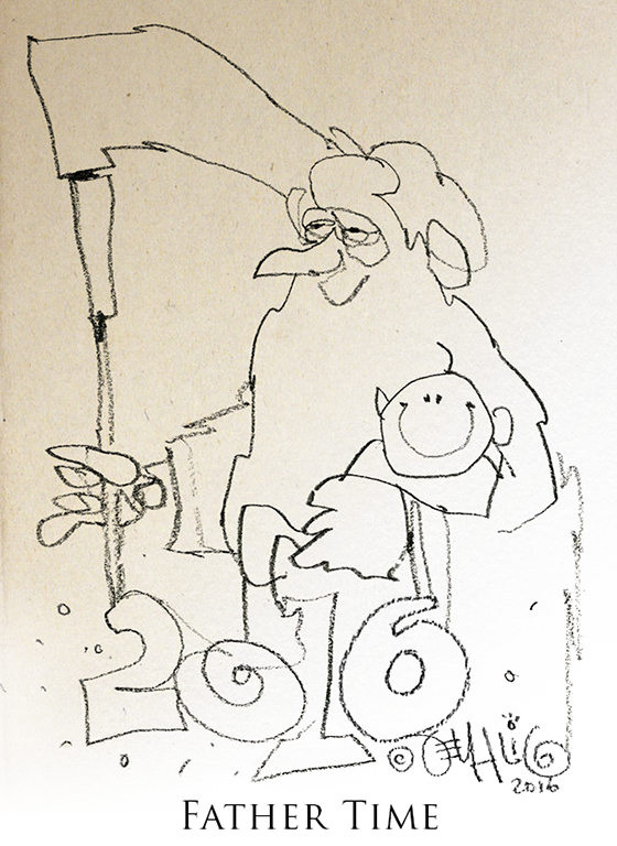 Father Time Illustration