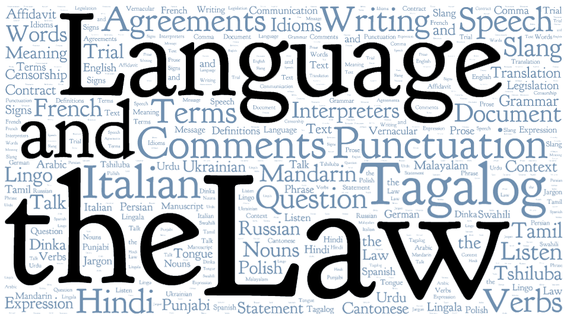 LawNow Mar/Apr2014: Language and the Law