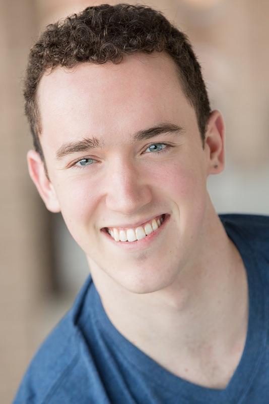 Jordan Barron's headshot for Broadway