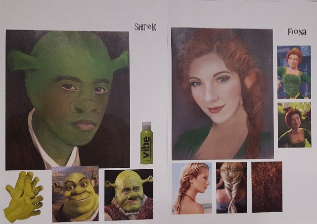 Costumes for Fiona and Shrek