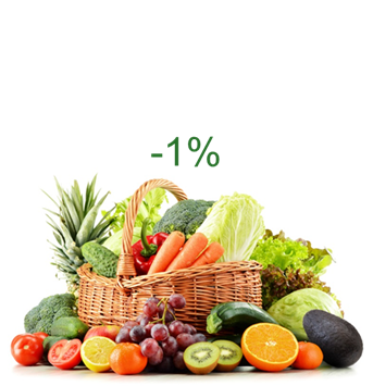 Produce -1%